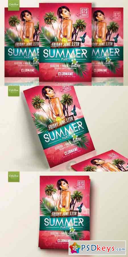 Summer Party Flyer Template 684865