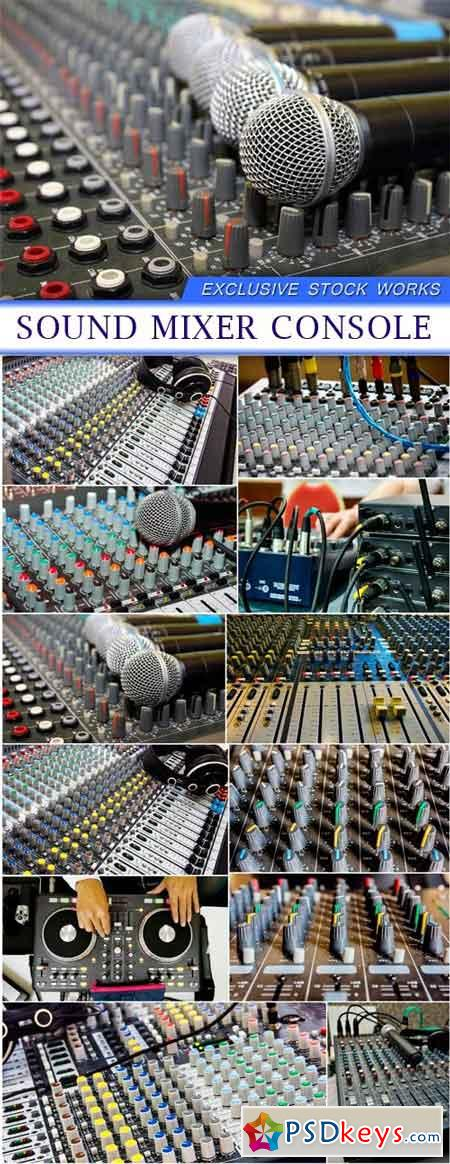 Sound mixer console 12X JPEG