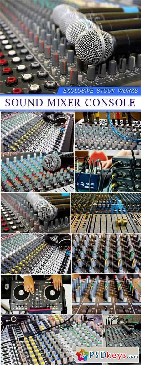 Sound mixer console 12X JPEG