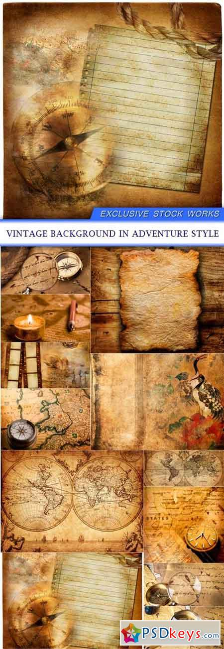 Vintage background in adventure style 12X JPEG