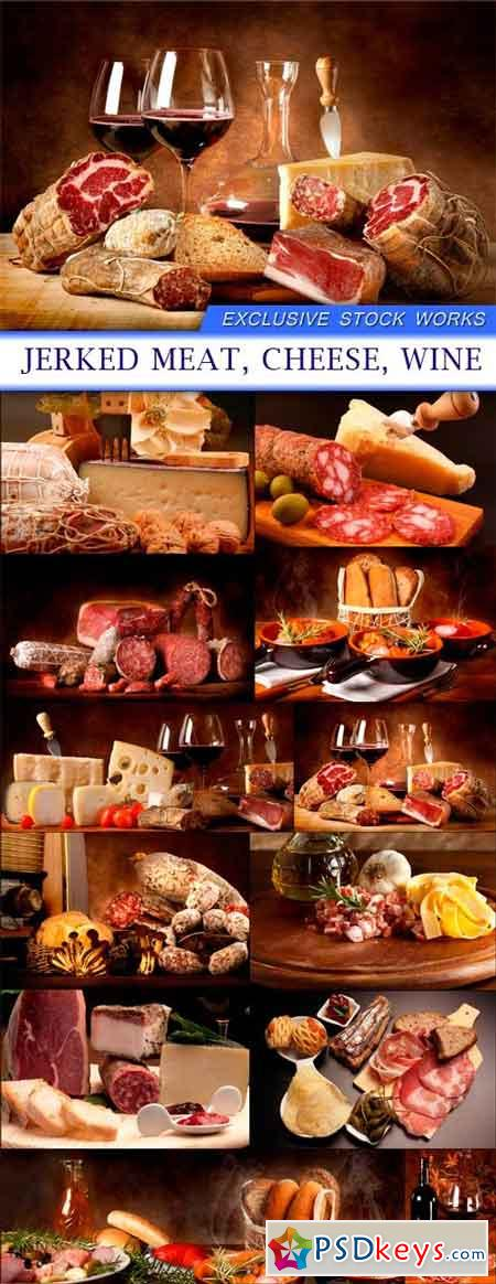 Jerked meat, cheese and wine 12X JPEG
