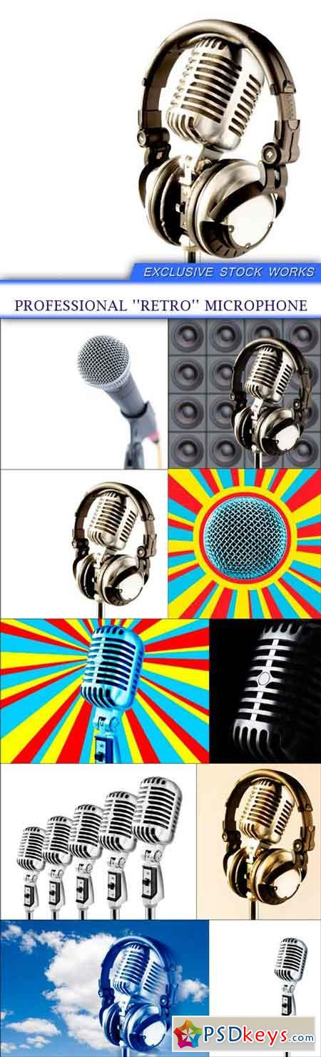 Professional ''retro'' microphone 10x JPEG