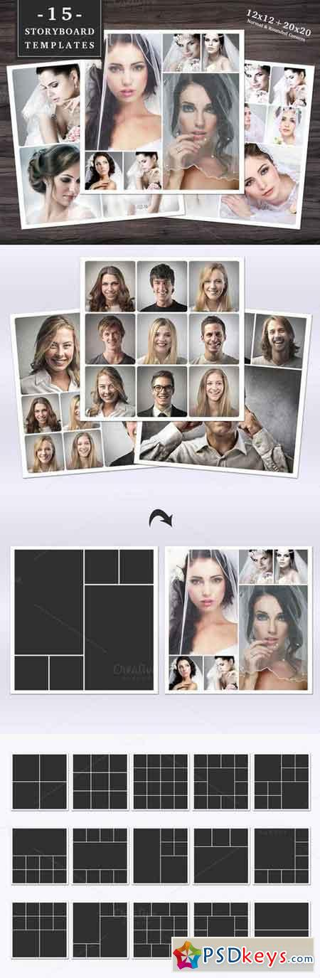 Storyboard Templates Set 003 687010