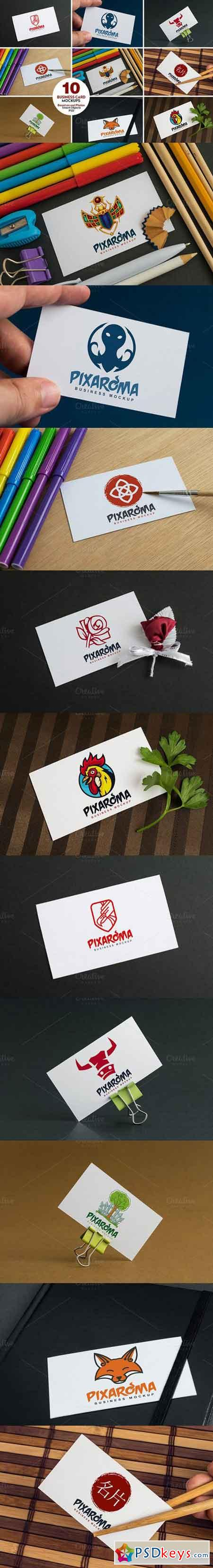 10 Business Card Mock-ups Vol.1 716967