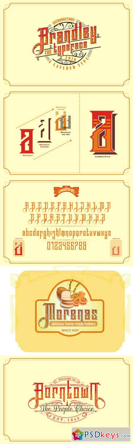 Brandley Typeface 690271