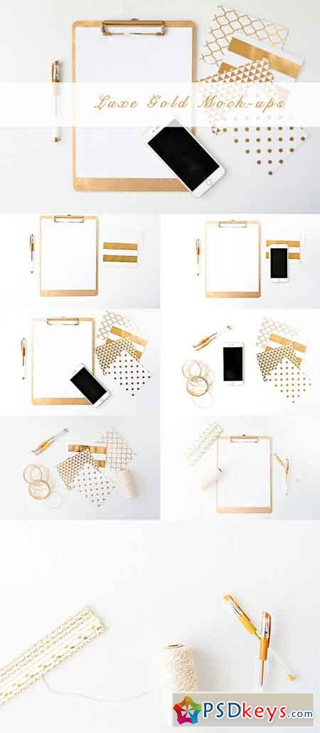 Gold Luxe Product Mockup Bundle 683098
