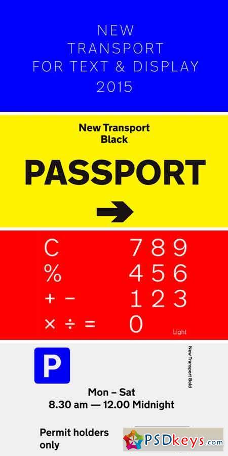 New Transport Font Family