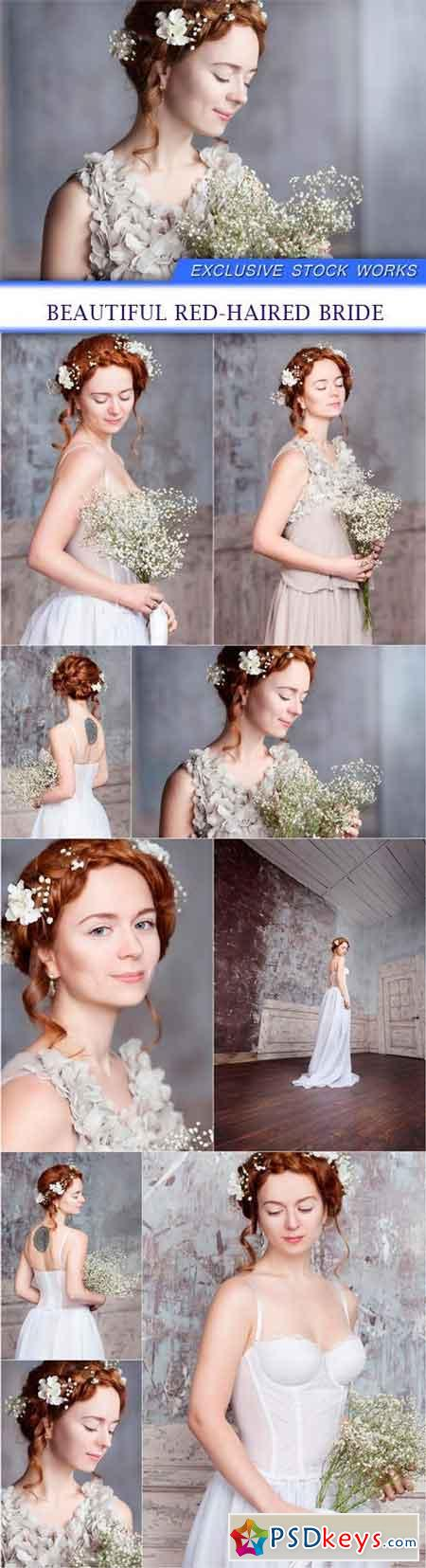 Beautiful red-haired bride 9X JPEG