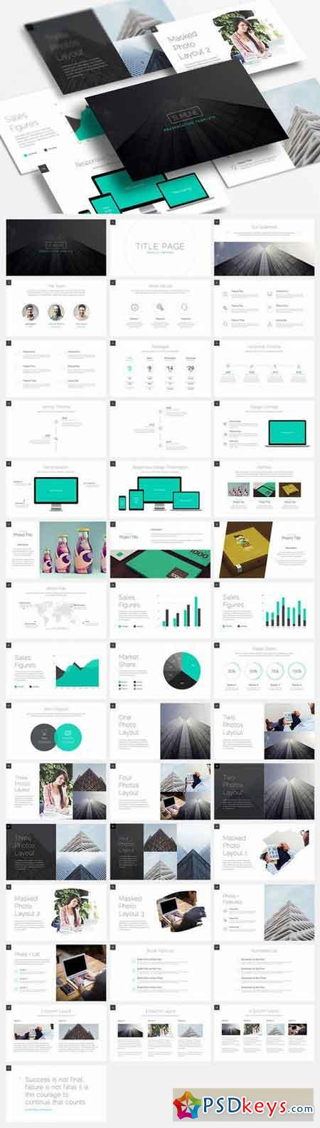 Slimline  Keynote Template   Free Download Photoshop