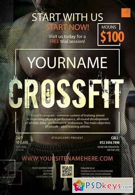 crossfit psd flyer template   facebook cover  u00bb free