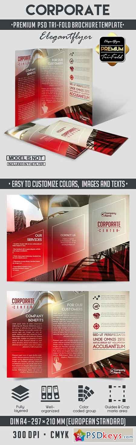 corporate tri fold brochure template - corporate tri fold psd brochure template free download