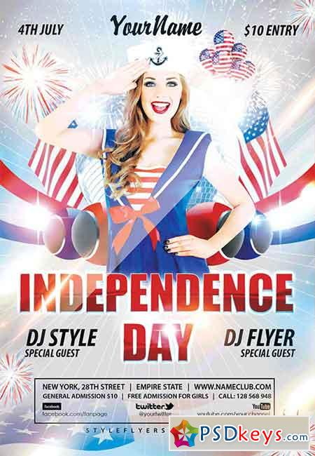 Independence Day Psd Flyer Template  Facebook Cover  Free