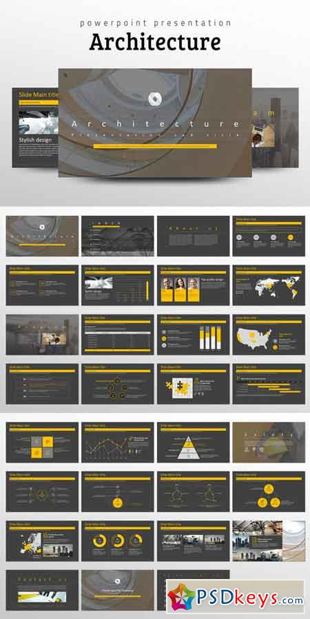 Architecture PPT Template 686159 » Free Download Photoshop