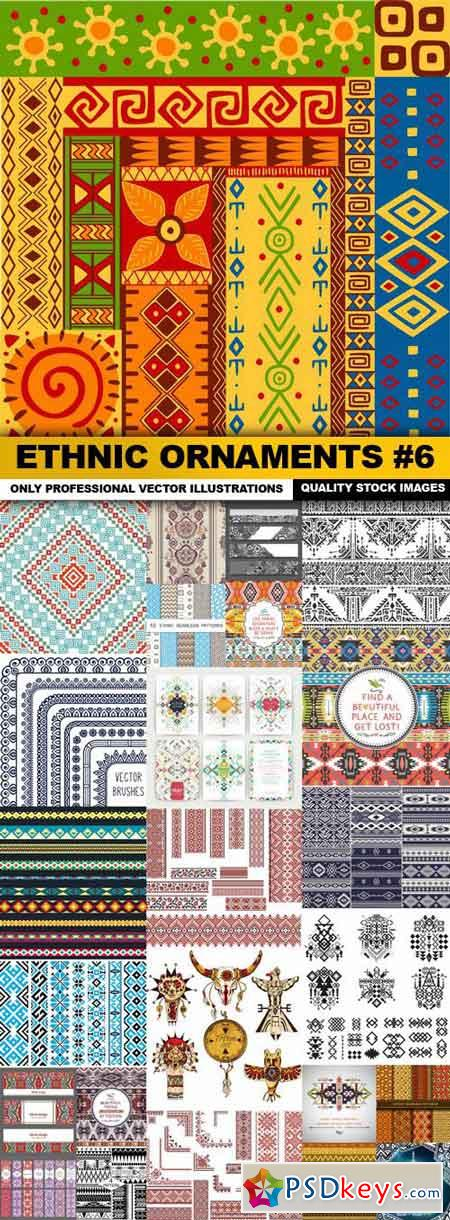 Ethnic Ornaments #6 - 25 Vector