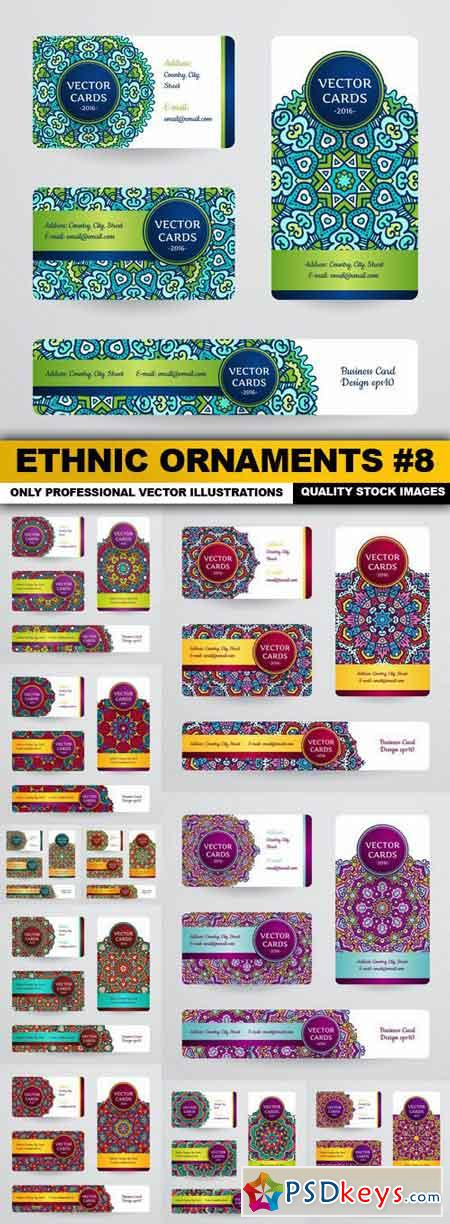 Ethnic Ornaments #8 - 11 Vector