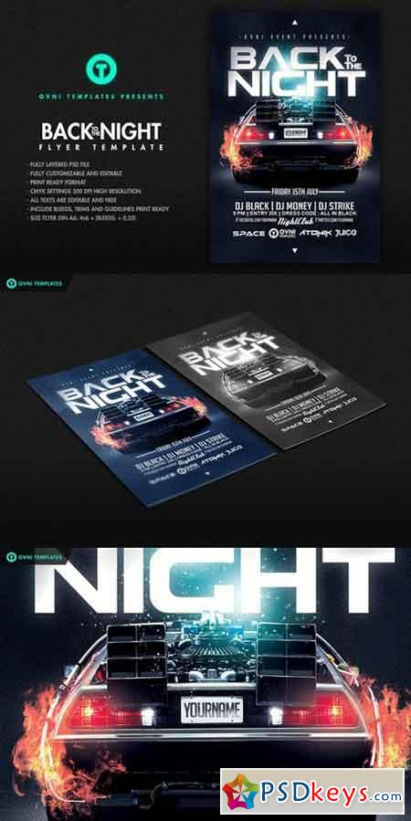 BACK TO THE NIGHT Flyer Template 687796