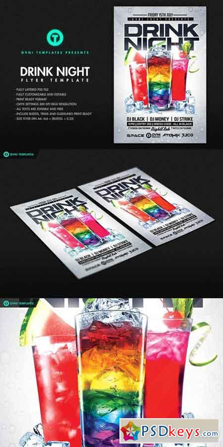 DRINK NIGHT Flyer Template 691924
