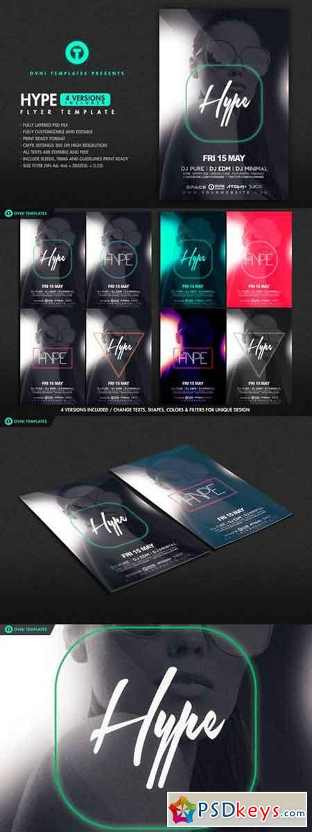 4in1 HYPE Flyer Template 687275