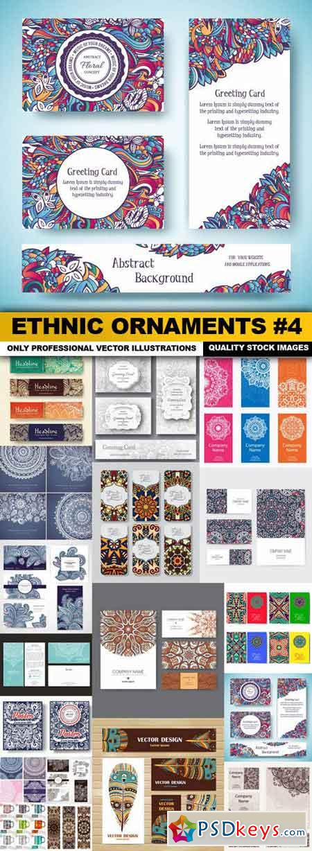 Ethnic Ornaments #4 - 18 Vector