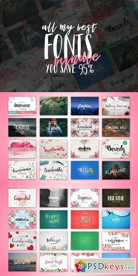 32Fonts Bundle 730691