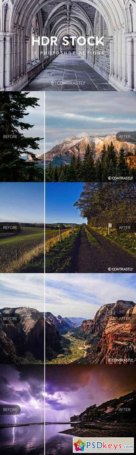 HDR Stock Photoshop Actions 664817