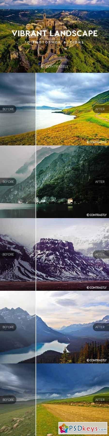 Vibrant Landscape Photoshop Actions 664821
