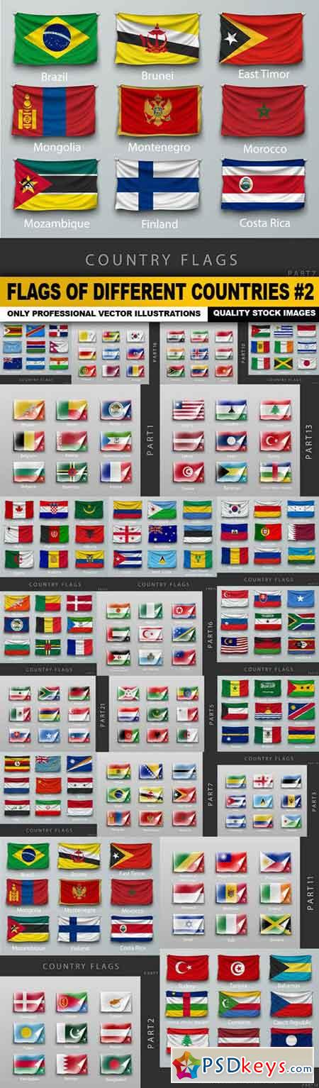 Flags Of Different Countries #2 - 22 Vector