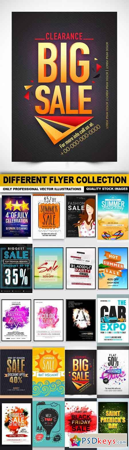 Different Flyer Collection - 20 Vector