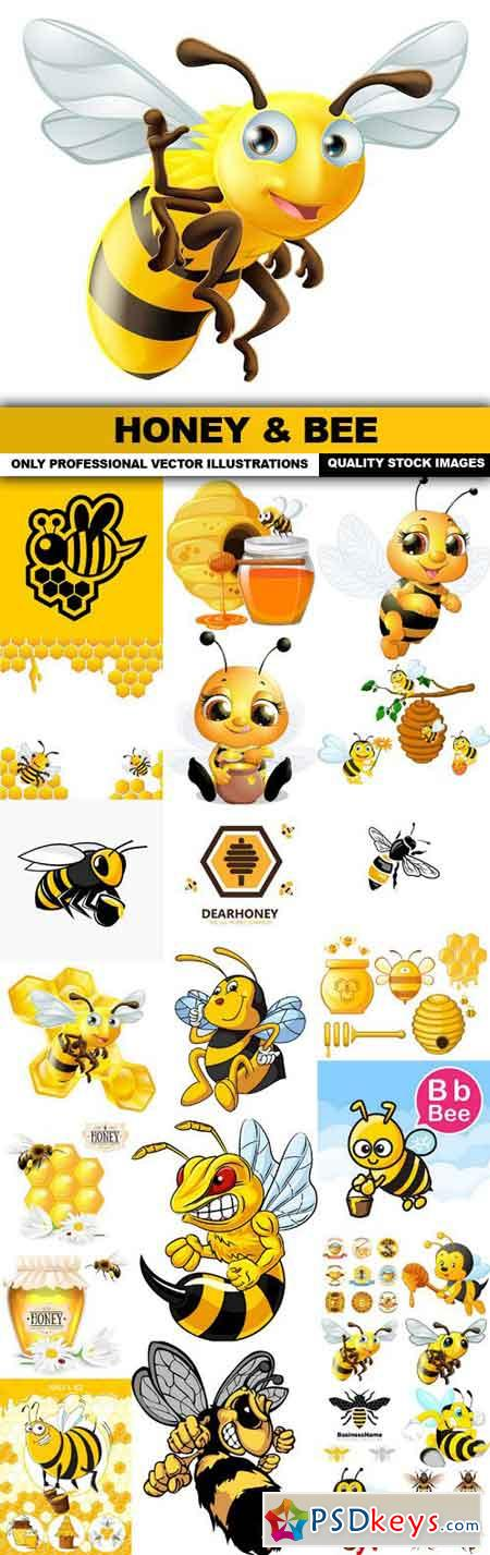 Honey & Bee - 26 Vector