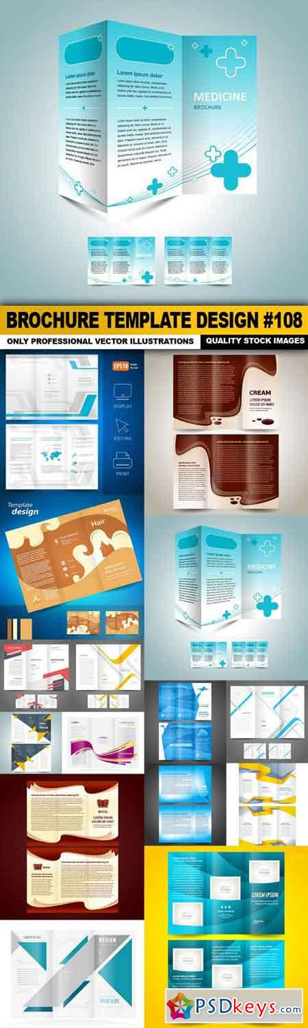 Brochure Template Design #108 - 15 Vector