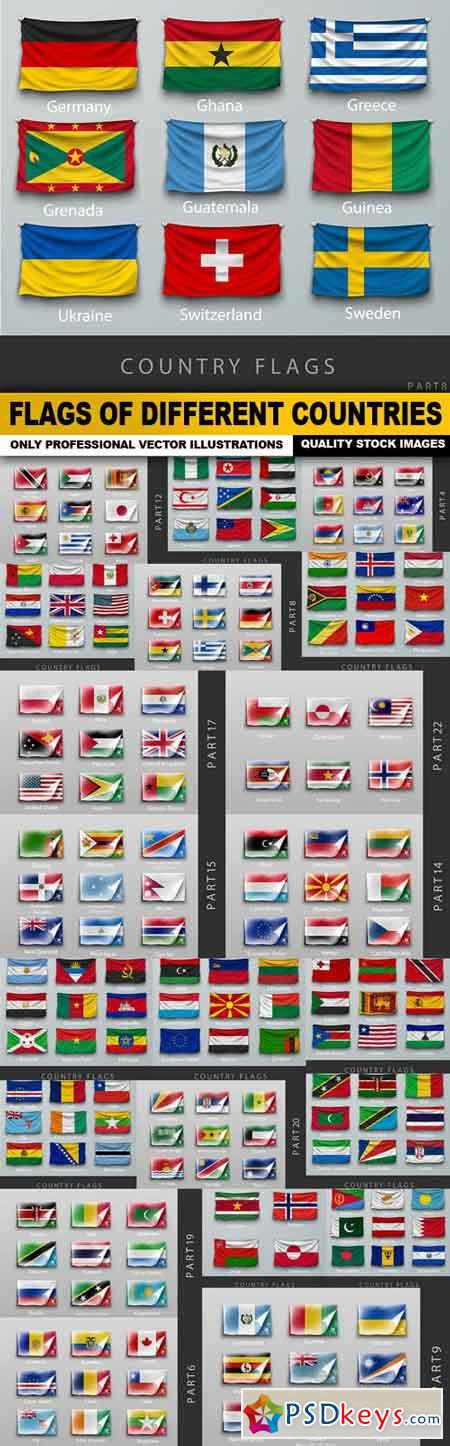 Flags Of Different Countries - 22 Vector