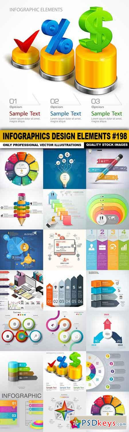 Infographics Design Elements #198 - 20 Vector