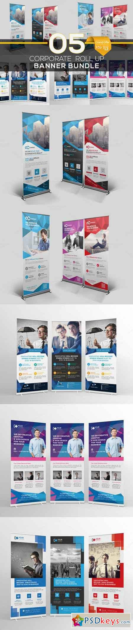 Roll Up Banner Bundle 5 in 1 733963