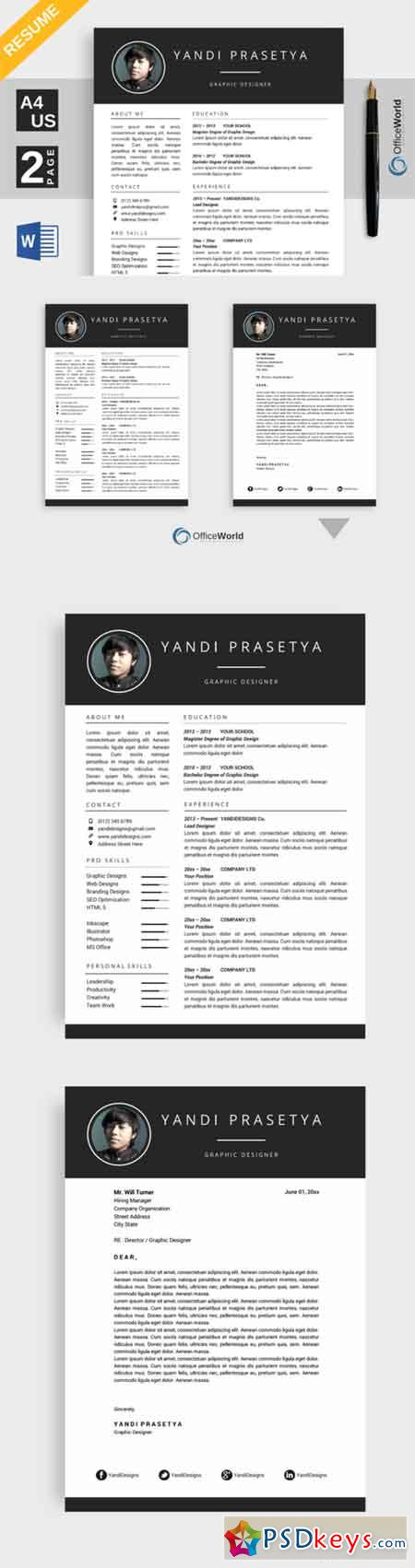 Brilliance Resume CV Ms Word 693856