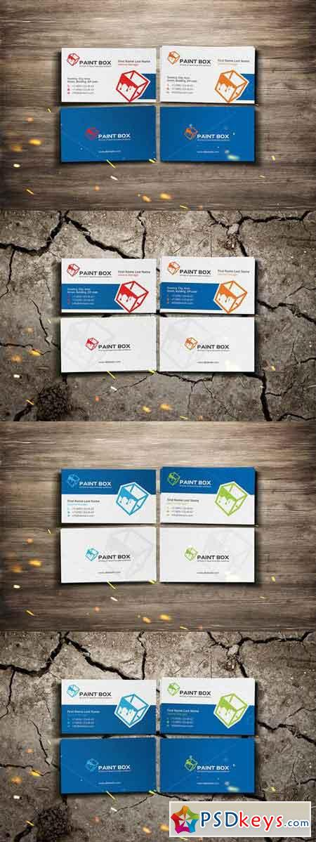 Paint box business card 710732