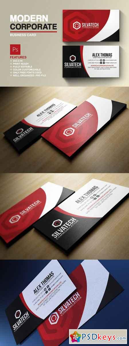 Modern Corporate Business Card 693945