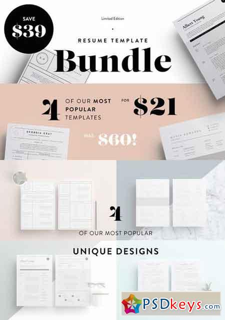 Most Popular Resume's Bundle! SALE 693858