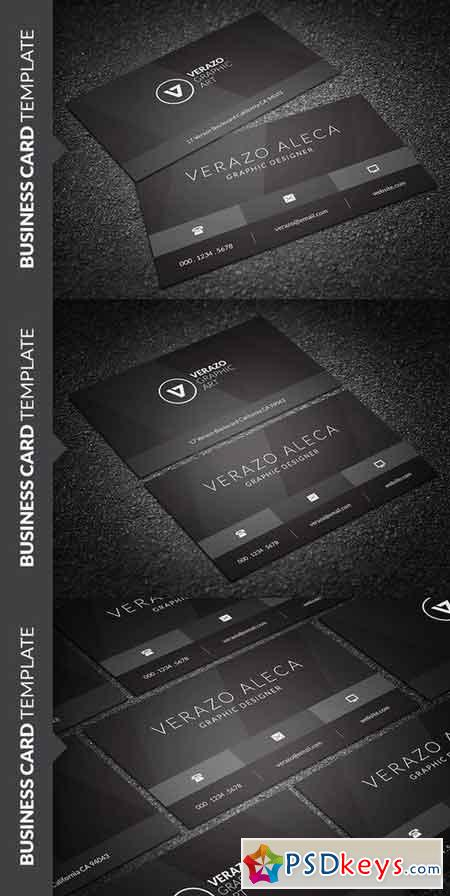 Stylish Black Business Card 693708
