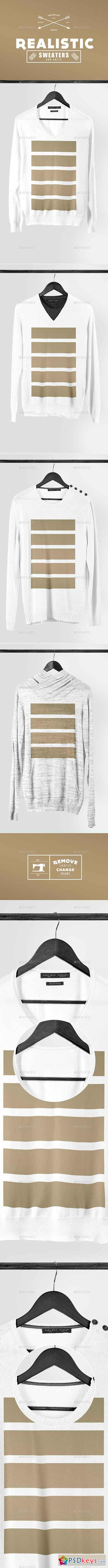 Realistic Sweaters & Knits Mock-up Pack 8561366