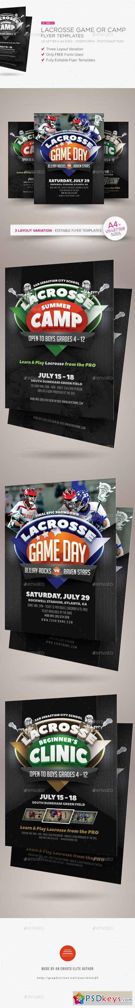Lacrosse Game or Camp Flyer Templates 16438874