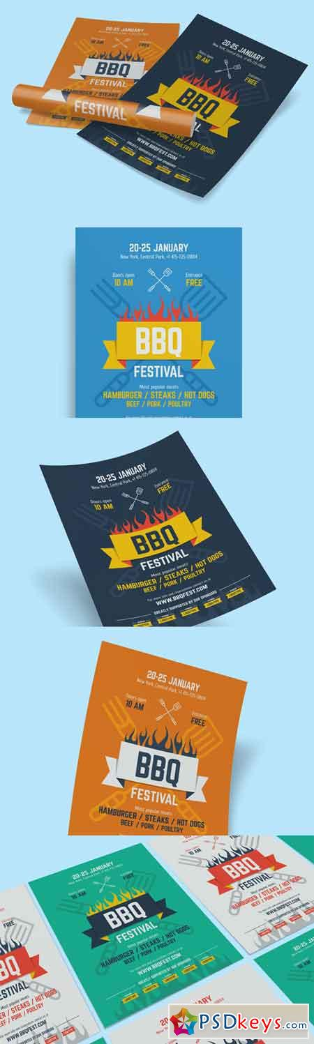 BBQ Festival Poster Template, vol.2 633495