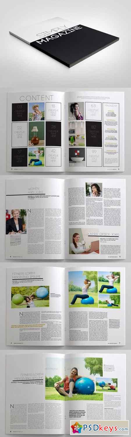 Simply Magazine Template 12292