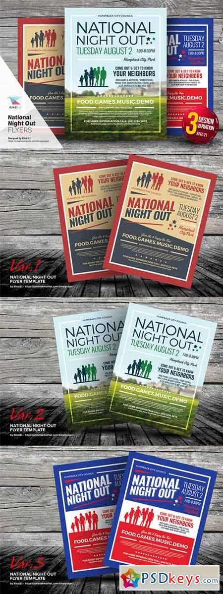 National Night Out Flyer Templates 654888 Free Download Photoshop