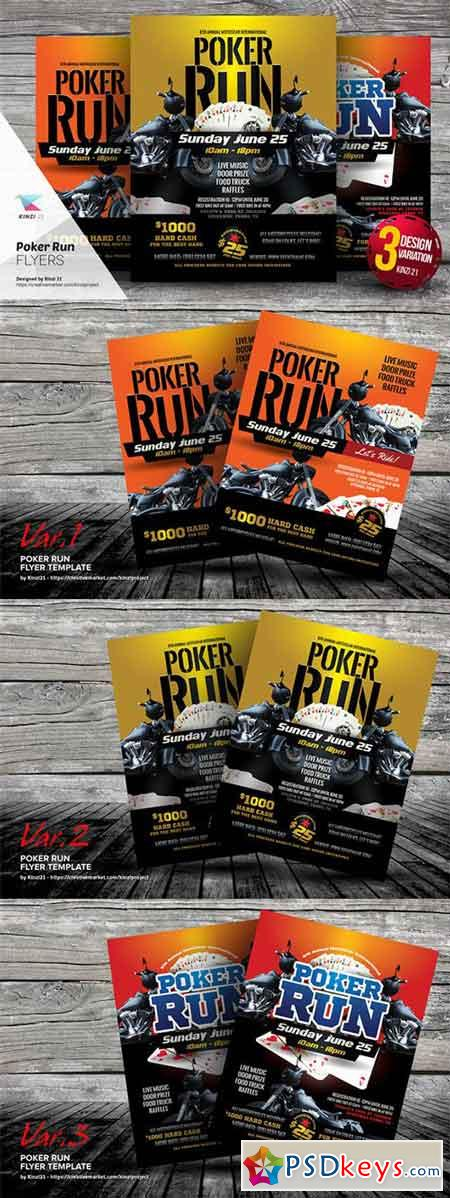 Poker Run Flyer Templates 659244 » Free Download Photoshop Vector ...