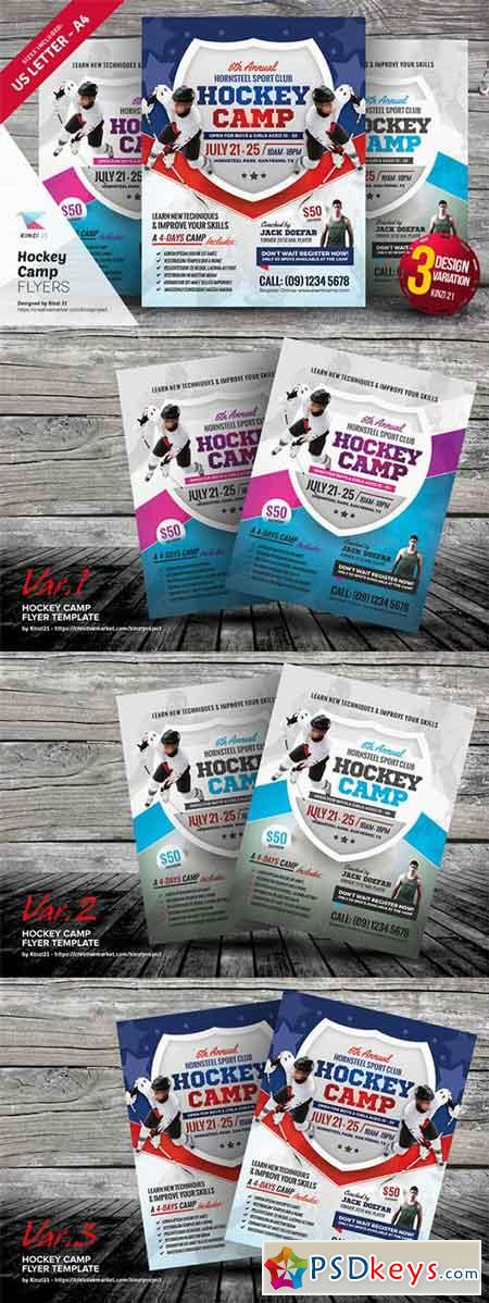 Hockey Camp Flyer Templates   Free Download Photoshop