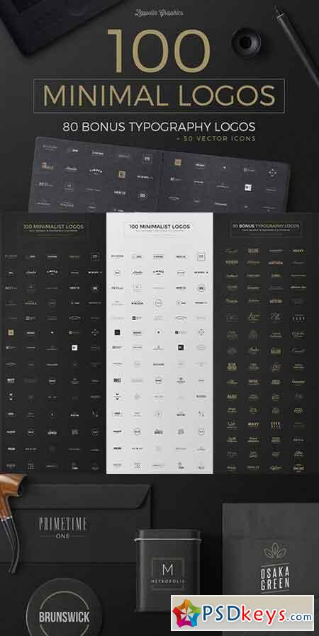 100 Minimal Logos Bonus 742643 Free Download Photoshop Vector