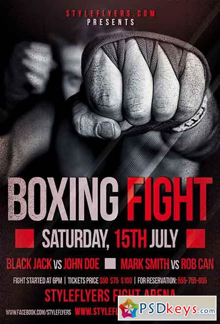 Boxing Fight Psd Flyer Template Facebook Cover Free Download