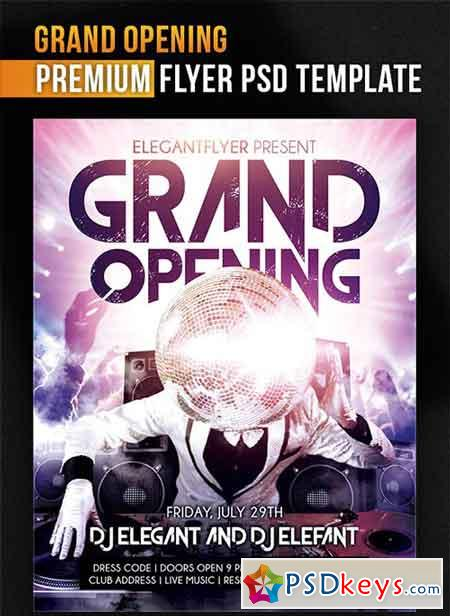 Grand Opening  Flyer Psd Template  Facebook Cover  Free Download