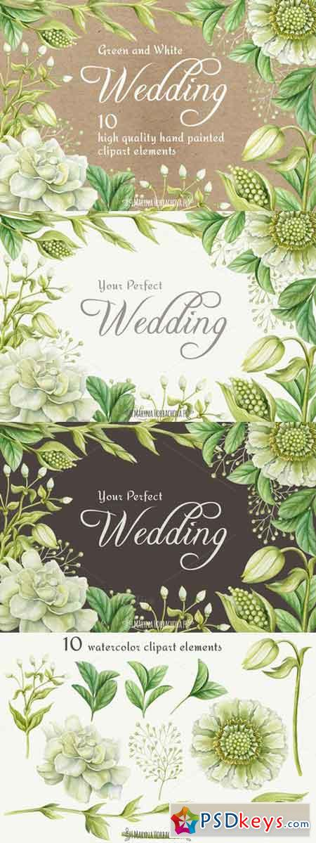 Wedding watercolor clipart elements 742864