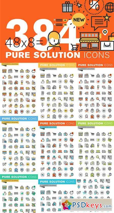Set of Thin Line Icons of Shopping 522314